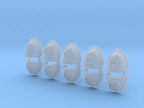 Steel Handed Warriors 3rd Clan Shoulder Pads Mk3 in Smooth Fine Detail Plastic
