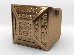Joker's Hollow Pyramid Ring - Metals in Natural Brass: 7 / 54