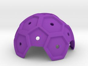 Quad_Sphere in Purple Processed Versatile Plastic