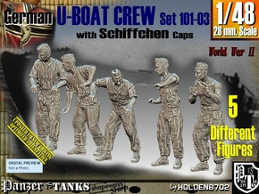 1/48 German U-Boot Crew Set101-03 in Smooth Fine Detail Plastic