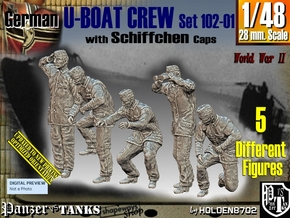 1/48 German U-Boot Crew Set102-01 in Smooth Fine Detail Plastic