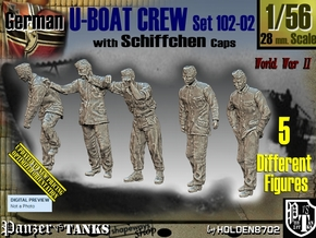 1/56 German U-Boot Crew Set102-02 in Smooth Fine Detail Plastic