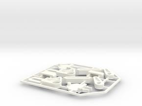 Lancia Delta rep. set VAR4 Instrument frame in White Processed Versatile Plastic