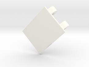 Lancia Delta 1 Door Handle w. Front in White Processed Versatile Plastic