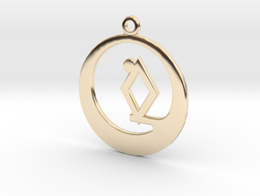 Smallville Rao charm in 14k Gold Plated Brass