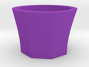 Succulent and air plant pot in Purple Processed Versatile Plastic