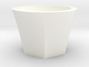 Succulent and air plant pot in White Processed Versatile Plastic