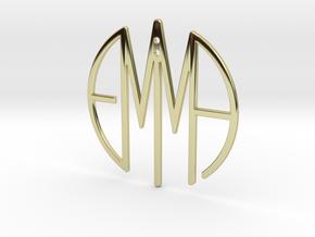 EMMA NAME SERIES - PENDANT in 18k Gold