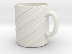 Twisty mug in White Natural Versatile Plastic
