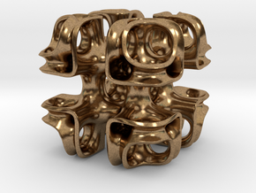 Cubic Lattice in Natural Brass