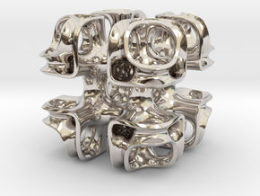 Cubic Lattice in Rhodium Plated Brass