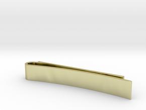 Monogrammed Tie/Money Clip in 18k Gold Plated Brass
