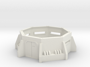 Imperial Bunker 40k 28mm in White Natural Versatile Plastic: Medium