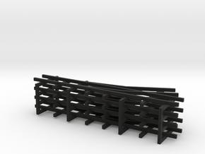 1/144 narrow gauge track set in Black Natural Versatile Plastic