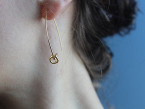 Universe Earrings in 14k Gold Plated Brass