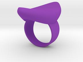 Ship shaped ring in Purple Processed Versatile Plastic: 5.25 / 49.625