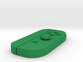 Nintendo Switch Joy-controller right keychain  in Green Processed Versatile Plastic