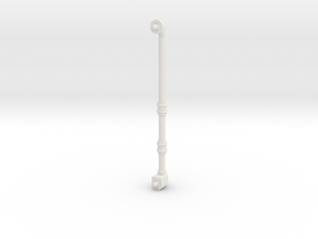 70mm long pipe 3mm in diameter in White Natural Versatile Plastic