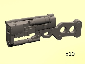 28mm Wastefall laser carbines in Smoothest Fine Detail Plastic