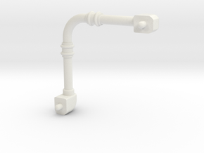 Small pipe 3mm dia 30x30mm footprint in White Natural Versatile Plastic
