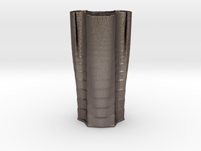 Vase 2345 in Polished Bronzed Silver Steel