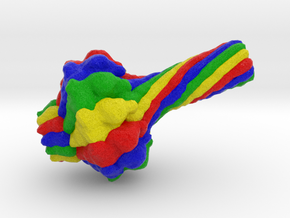 Bacteriophage Portal Protein in Full Color Sandstone