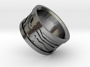Damascus Ring (random pattern) in Polished Silver