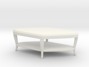 Miniature Paragon Club Table - Century Furniture in White Natural Versatile Plastic: 1:24