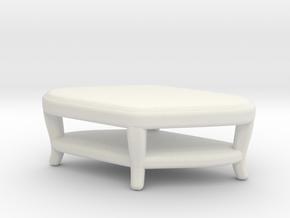 Miniature Paragon Club Table - Century Furniture in White Natural Versatile Plastic: 1:48 - O