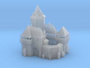Miniature Medieval Castle in Smooth Fine Detail Plastic