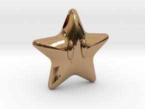 Power Star in Polished Brass