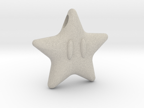 Power Star in Natural Sandstone