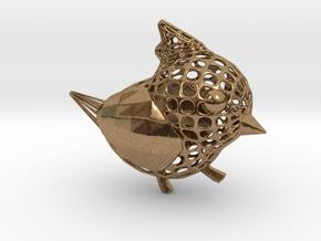 Titmouse BIRD in Natural Brass