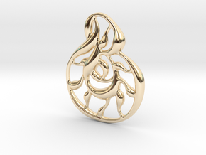Double wave in 14K Yellow Gold