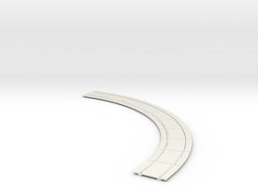 O Gauge Concrete Street Track 12.5 Rad in White Natural Versatile Plastic
