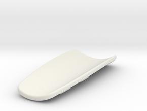 Shin guard in White Natural Versatile Plastic