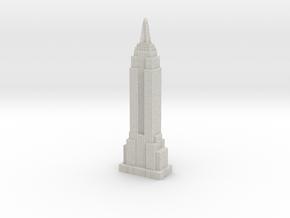 Empire State Building - White w white windows in Full Color Sandstone