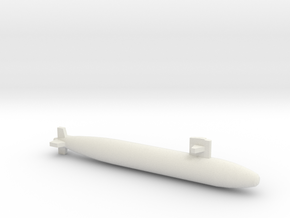 Sturgeon-class SSN (Short Hull), full hull, 1/1800 in White Natural Versatile Plastic