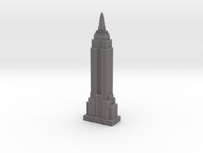 Empire State Building - Gray w Black Windows in Full Color Sandstone