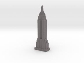 Empire State Building - Gray w Gray Windows in Full Color Sandstone