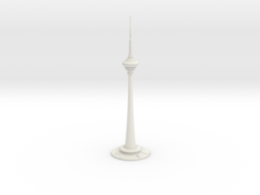 Tianjin Radio & TV Tower (1:2000) in White Natural Versatile Plastic