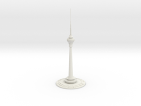 Central Radio & TV Tower (1:2000) in White Natural Versatile Plastic