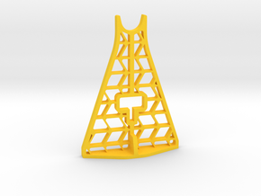 AR60 Jack Stand Upright - Tall in Yellow Processed Versatile Plastic