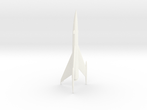 """Space Angel"" - Starduster Ship Miniature in White Processed Versatile Plastic"