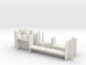 HOn3 D&RGW RGS Caboose interior in White Natural Versatile Plastic