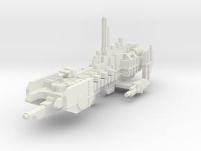 Crucero de asalto  in White Natural Versatile Plastic