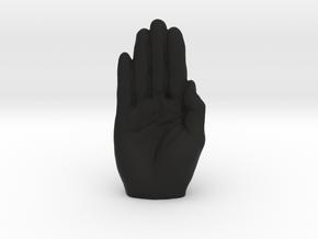 Anti-Trump HANDS OFF pendant in Black Premium Versatile Plastic