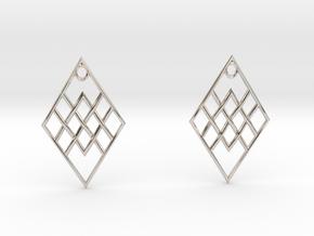 R. Earrings in Rhodium Plated Brass