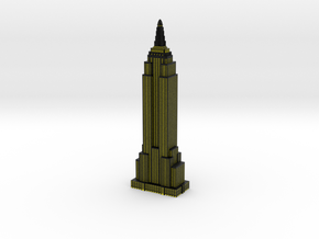 Empire State Building - Black w Yellow windows in Full Color Sandstone
