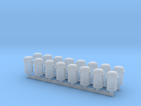 Pole Transformer 03. HO Scale (1:87) in Smooth Fine Detail Plastic